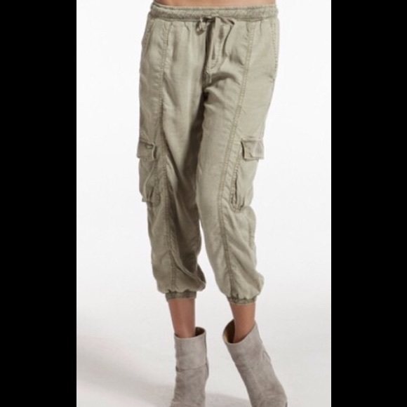 Bella Dahl Cropped Cargo JOggers XS
